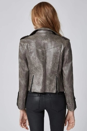 BlankNYC Vegan Moto Jacket - Back cropped