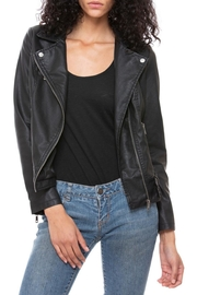 Coalition LA Vegan Moto Jacket - Front cropped