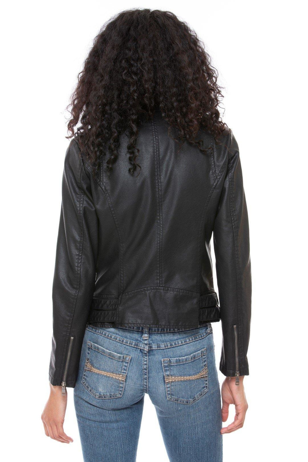 Coalition LA Vegan Moto Jacket - Side Cropped Image