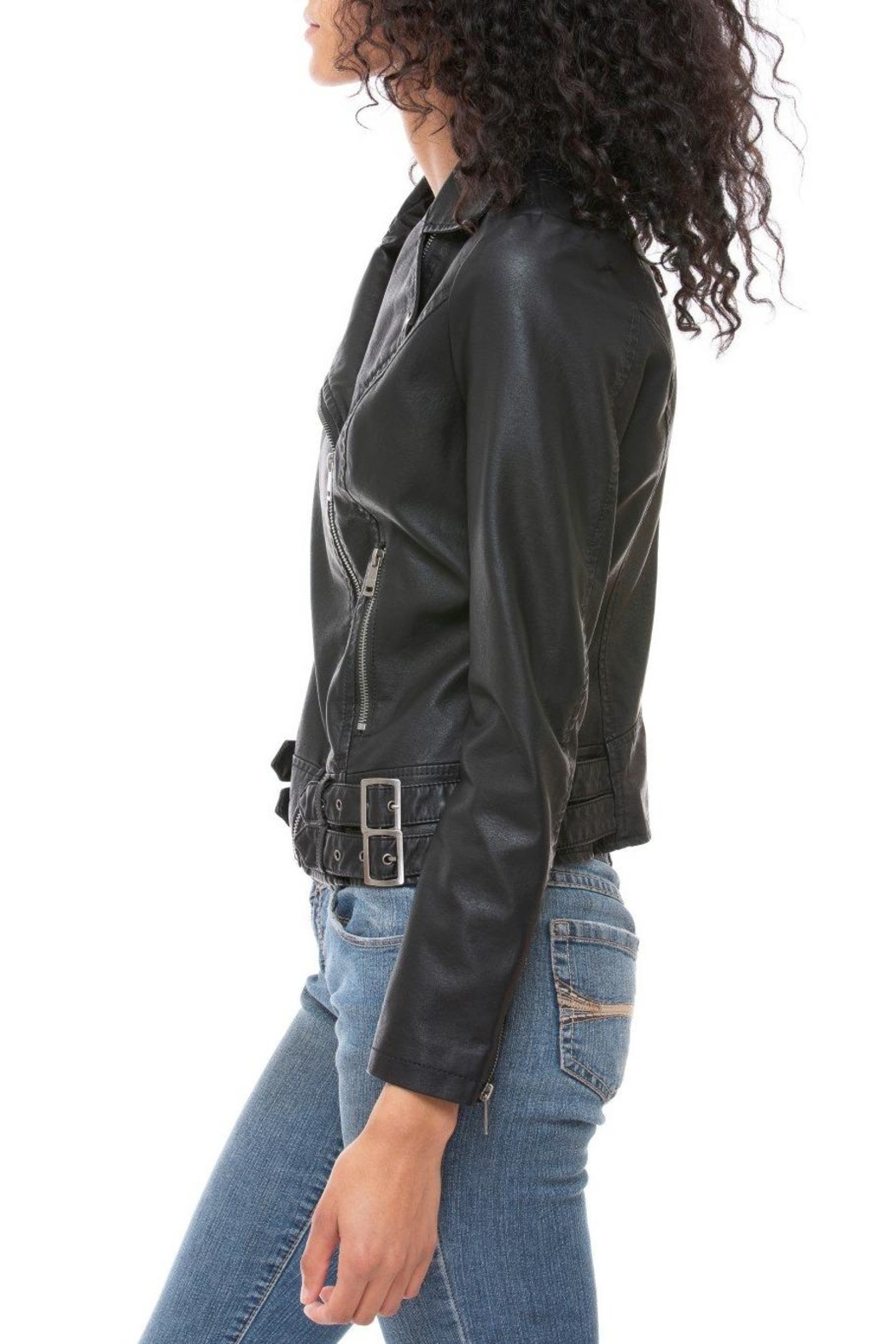 Coalition LA Vegan Moto Jacket - Front Full Image