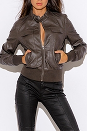 Miss SaSa Vegan Moto Jacket - Product Mini Image