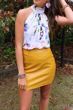 Shoptiques Product: Vegan Mustard Skirt