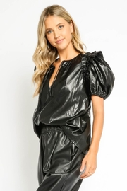 Olivaceous  Vegan Puff Sleeve - Front full body