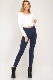 she+sky Vegan Suede Leggings - Product Mini Image