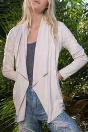 Astars Vegan-Suede Waterfall Jacket - Product Mini Image