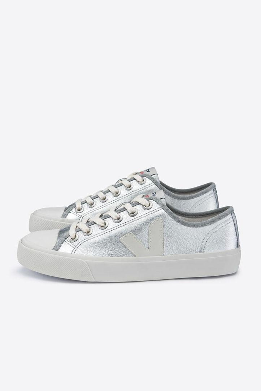 Veja Wata Leather Silver Shoes - Main Image