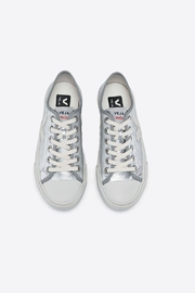 Veja Wata Leather Silver Shoes - Front full body