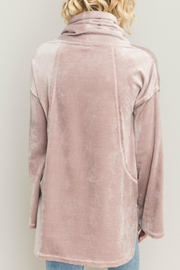 Hem & Thread Velour Cowl Top - Front full body