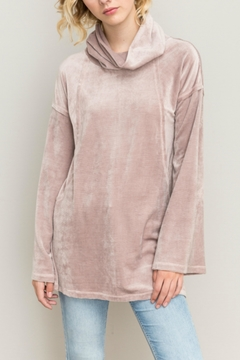 Shoptiques Product: Velour Cowl Top