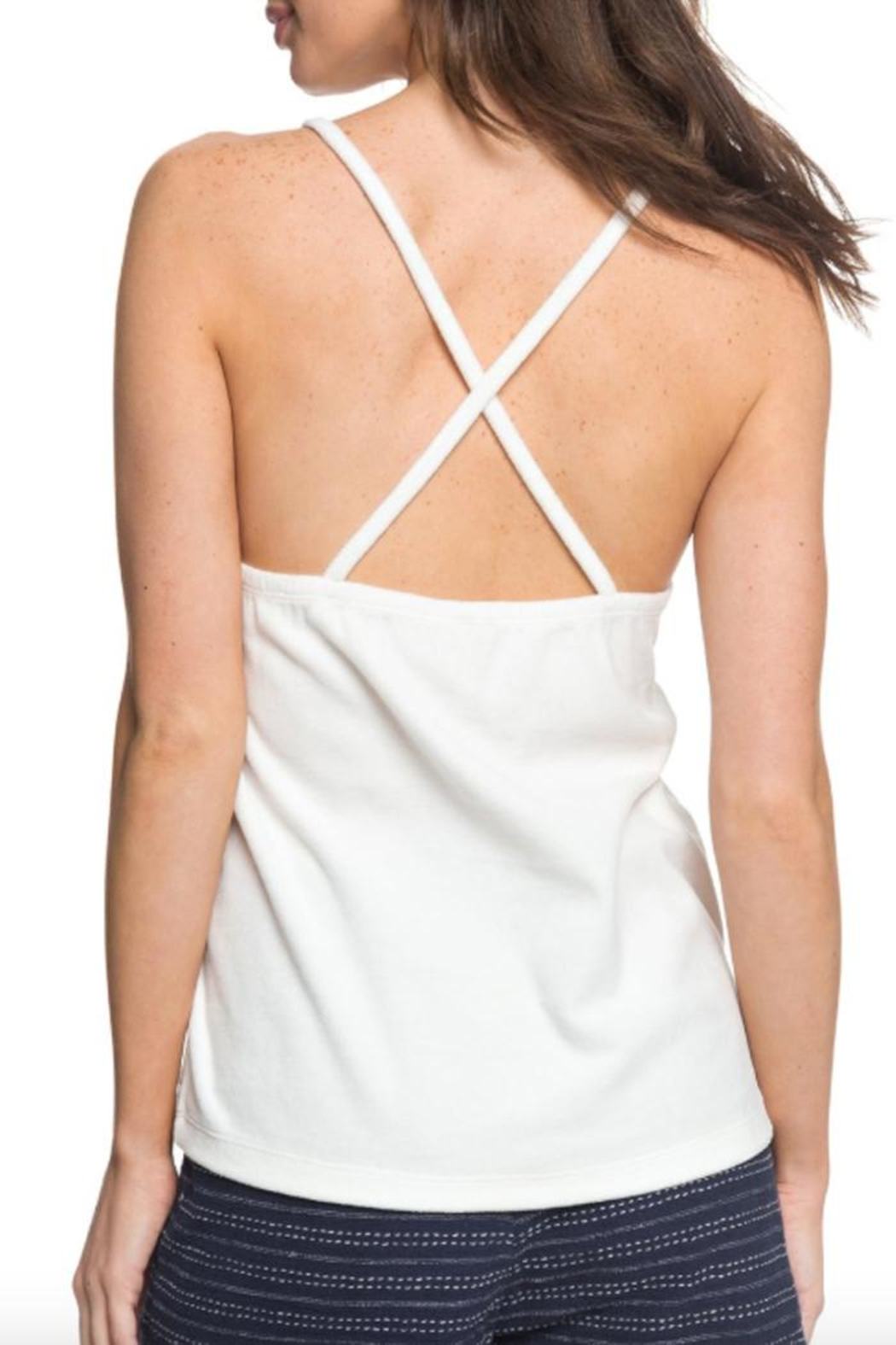 Roxy Velour Cross-Back Cami - Back Cropped Image