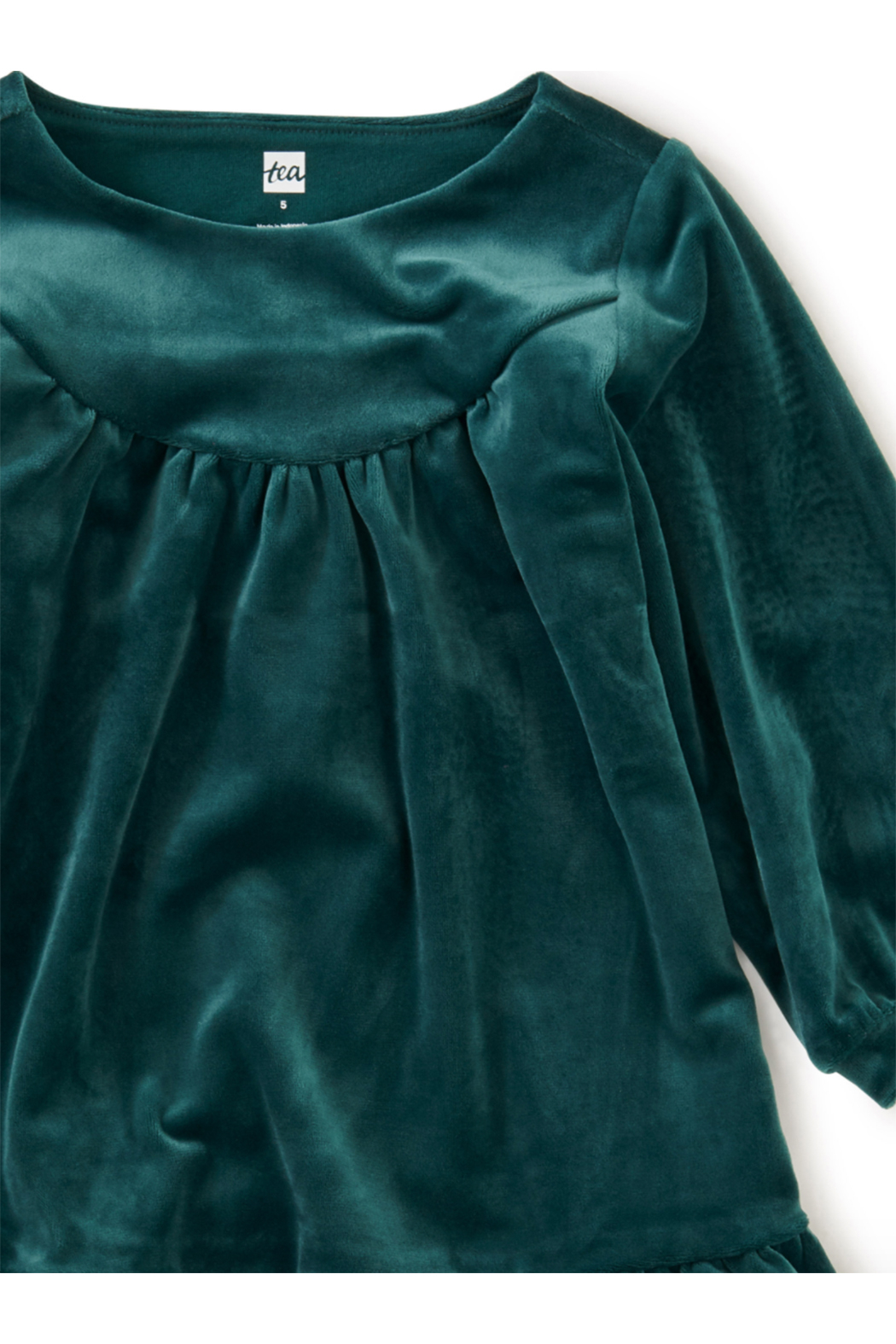 Tea Collection Velour Dress - Side Cropped Image