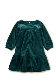 Tea Collection Velour Dress - Front cropped