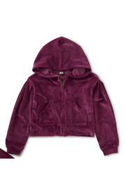 Tea Collection Velour Hoodie - Product Mini Image