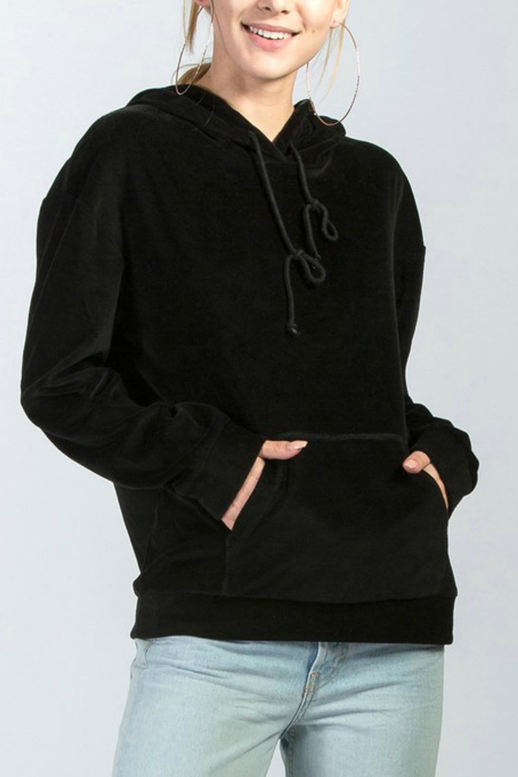 HYFVE Velour Knit Hoodie - Front Cropped Image