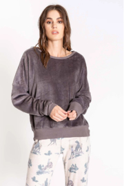 PJ Salvage Velour Pullover - Product Mini Image