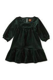 Tea Collection Velour Ruffle Baby Dress - Front cropped