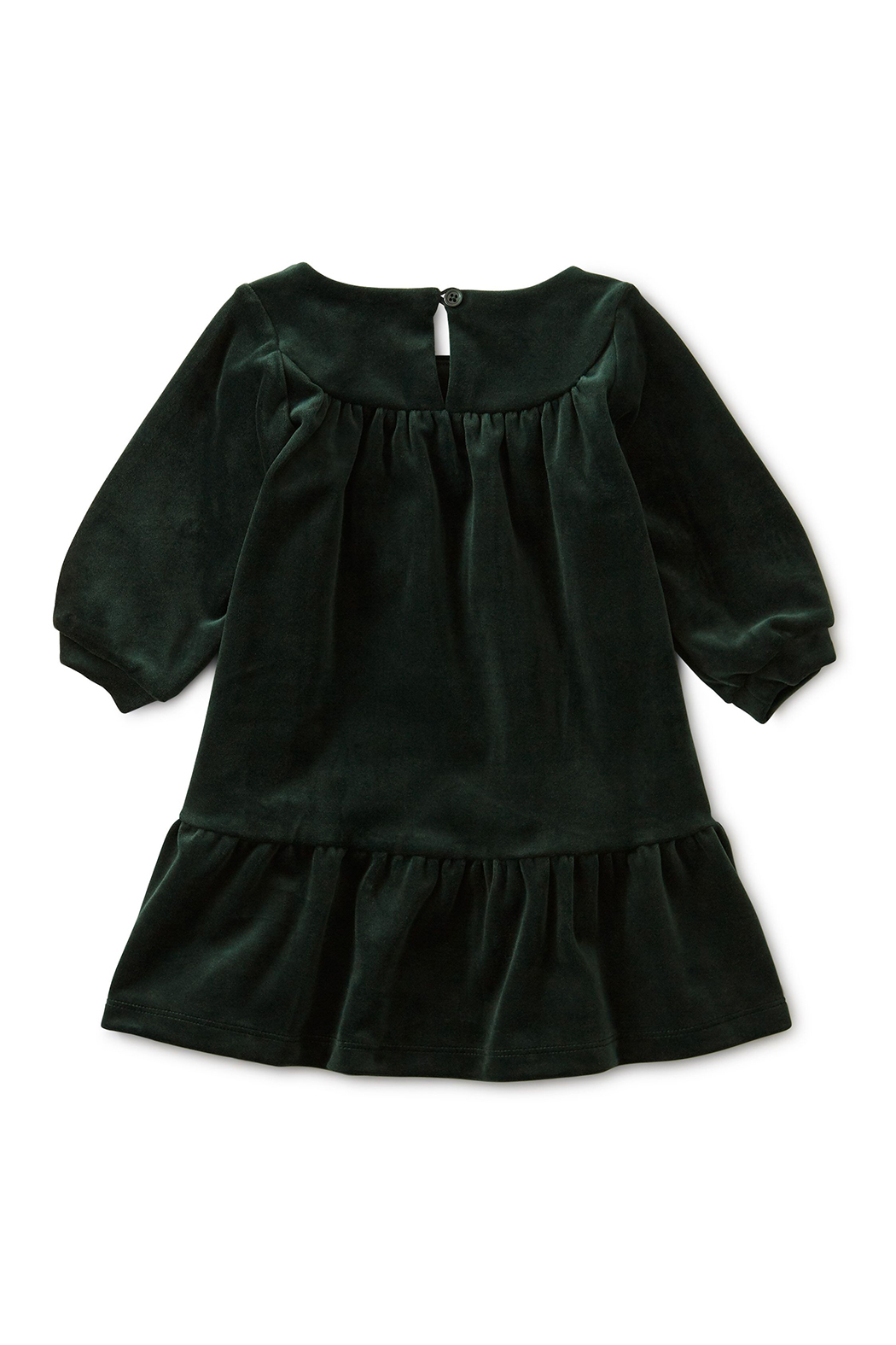 Tea Collection Velour Ruffle Baby Dress - Front Full Image