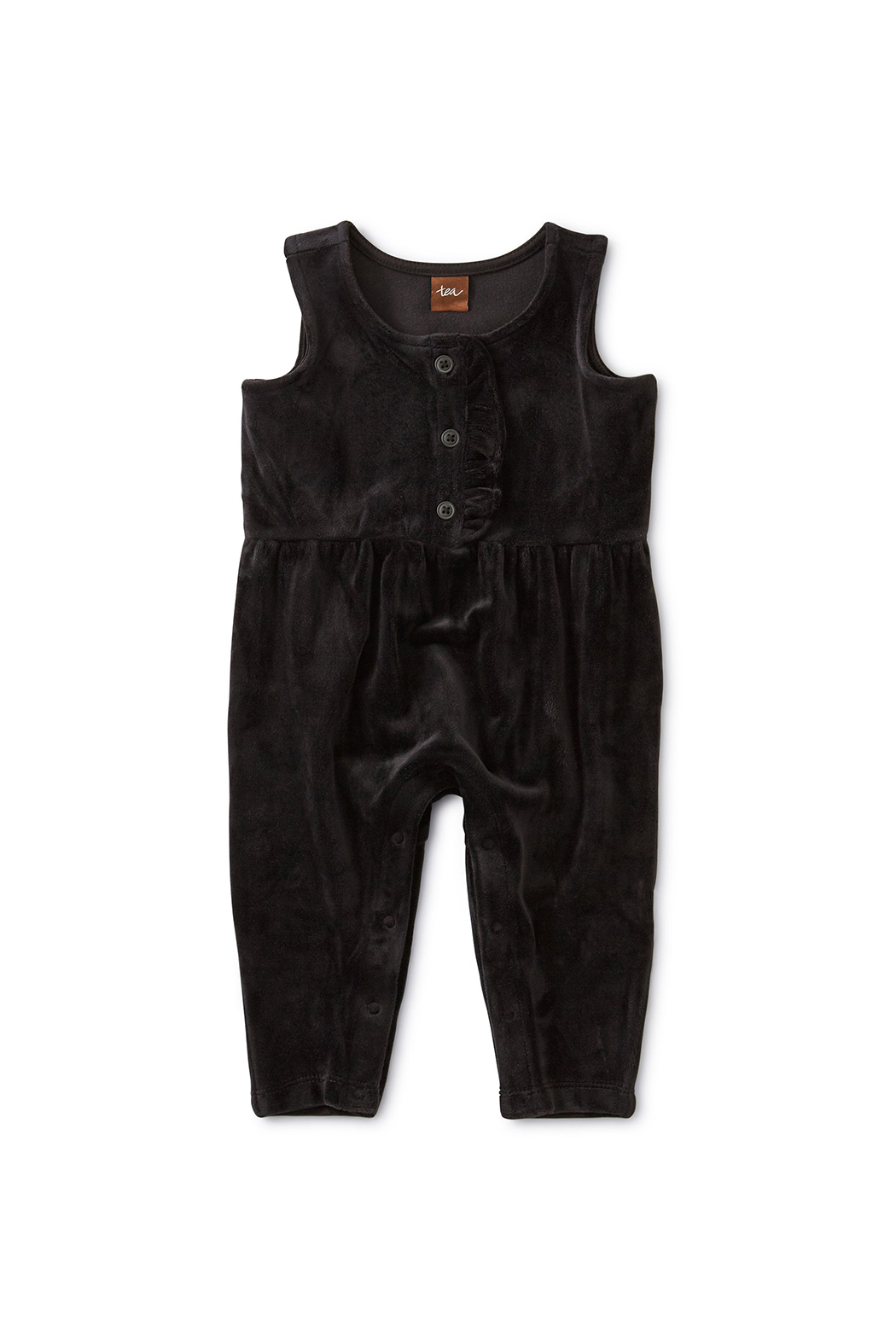 Tea Collection Velour Ruffle Romper - Main Image