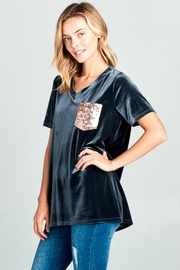 Towne Velour Sequin Tee - Product Mini Image