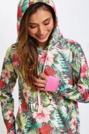 Sol Angeles VELOUR TROPICAL JUNGLE HOODIE - Front full body