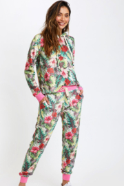 Sol Angeles VELOUR TROPICAL JUNGLE HOODIE - Front cropped