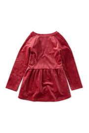Tea Collection Velour Tunic Ruffle Top - Front full body