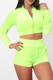 TIC:TOC Velour Two Piece Tracksuit - Front full body