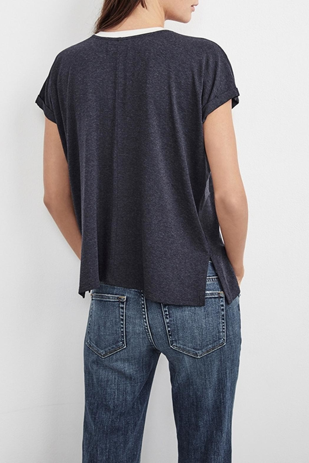 Velvet Annamae Contrast Top - Back Cropped Image