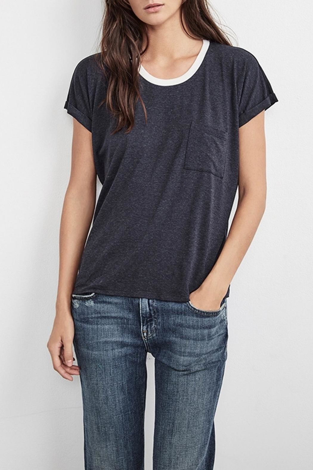 Velvet Annamae Contrast Top - Front Cropped Image