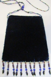 KIMBALS VELVET BEADED FLA BAG - Product Mini Image
