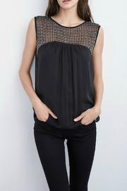 Velvet Beaded Sleeveless Top - Product Mini Image