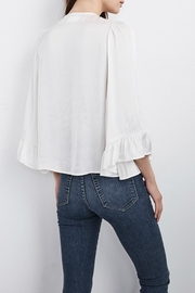 Velvet Bell Sleeve Top - Front full body