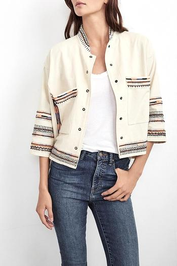 Velvet Billee Embroidered Jacket - Main Image