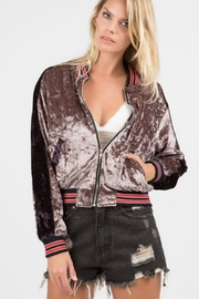POL Velvet Bomber Jacket - Product Mini Image