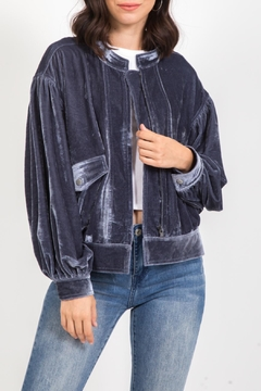 Shoptiques Product: Velvet Bomber Jacket