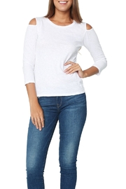 Velvet Bria White Top - Front cropped