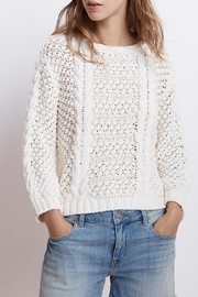 Velvet Cable Knit Sweater - Front cropped
