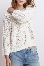 Velvet Cable Knit Sweater - Front full body