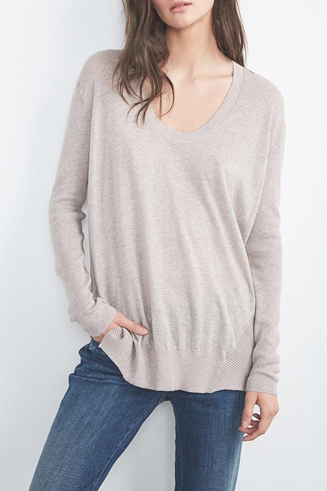 Velvet Camille Scoop Neck Sweater - Front Cropped Image