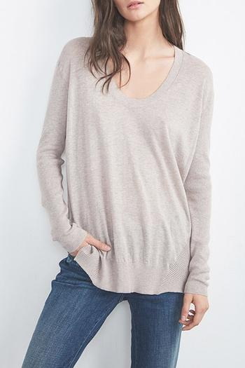 Shoptiques Product: Camille Scoop Neck Sweater - main