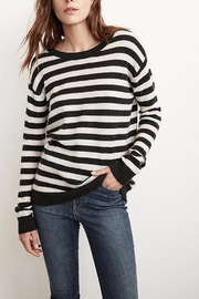 Velvet Cath Stripe Cashmere Sweater - Front cropped