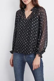 Velvet Chiffon Blouse - Product Mini Image
