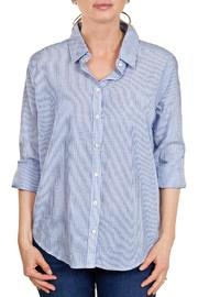 Velvet Stripe Button-Down Shirt - Product Mini Image