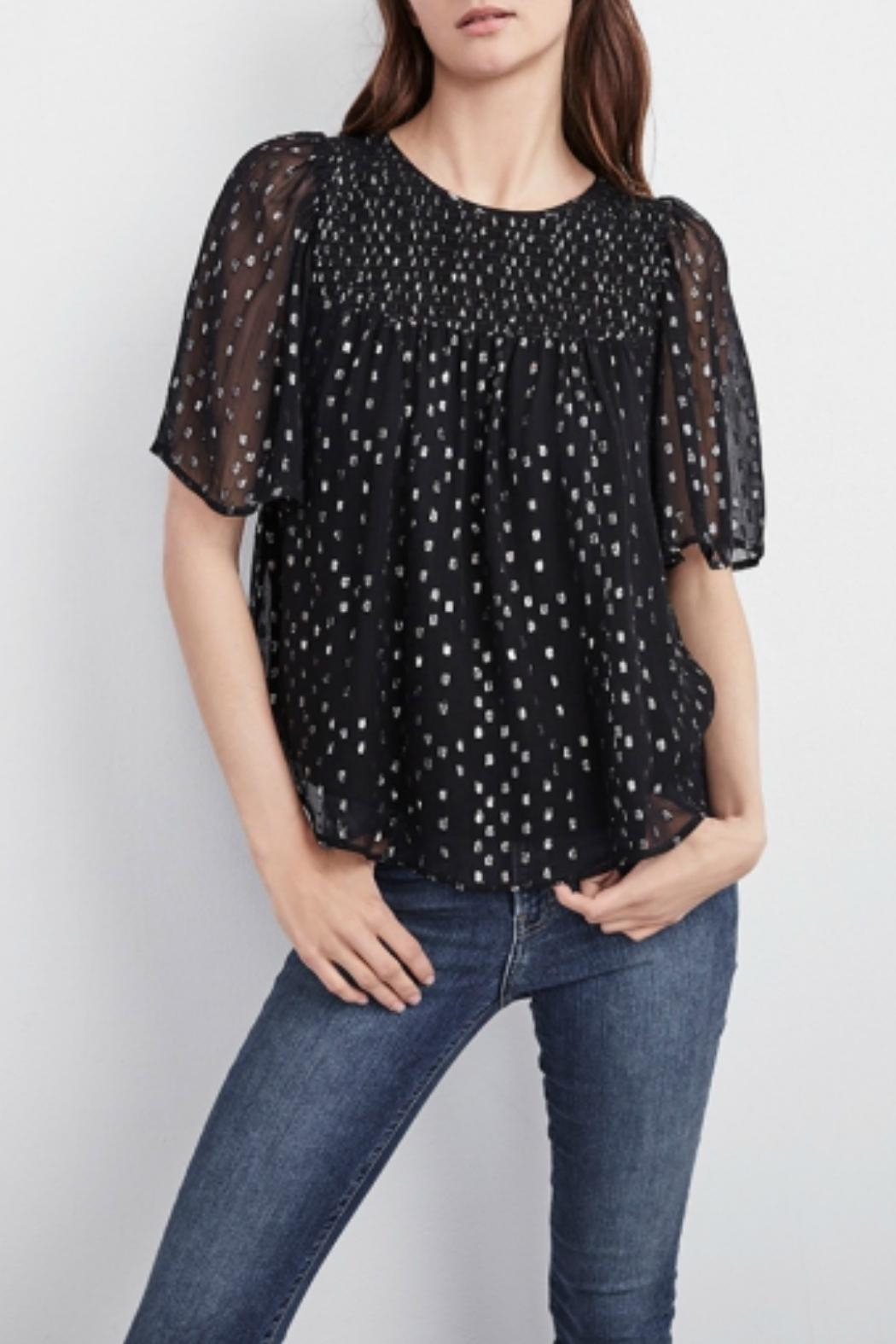 Velvet Claudie Chiffon Blouse - Front Cropped Image