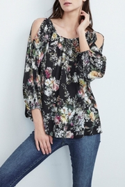 Velvet Cold Shoulder Blouse - Product Mini Image