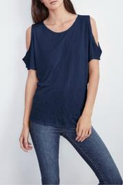 Velvet Cold Shoulder Tee - Product Mini Image