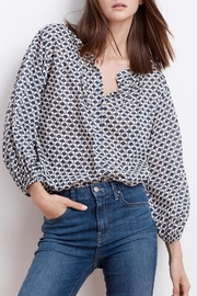 Velvet Catalina Button Blouse - Front cropped