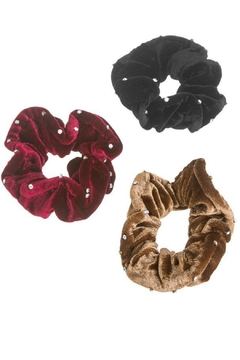 AL Boutique Velvet Crystal Scrunchie - Alternate List Image
