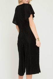 She + Sky Velvet Culotte Jumpsuit - Front full body