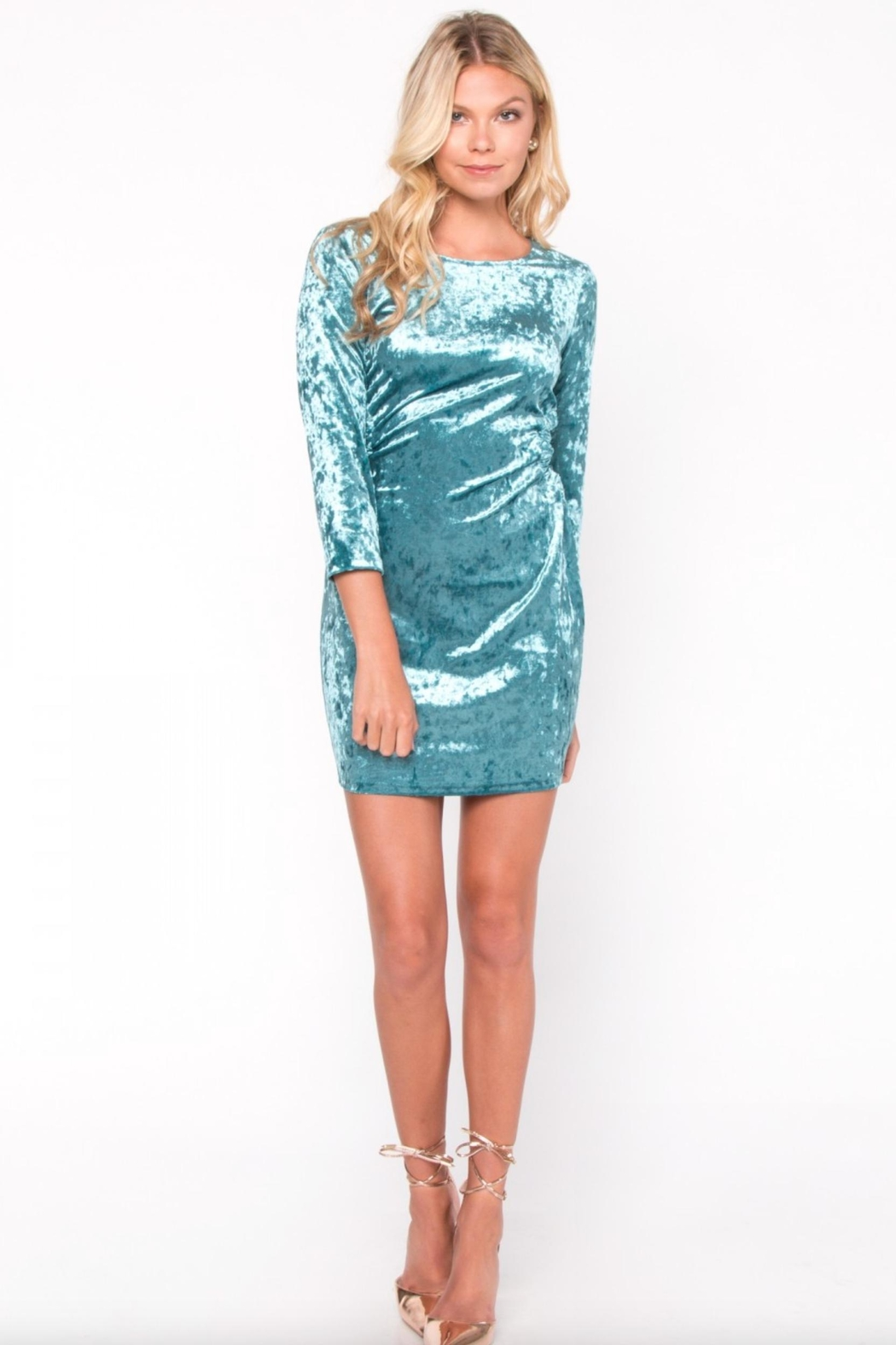 Everly Velvet Cut-Out Dress - Main Image